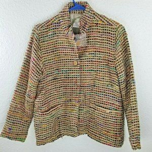The Territory Ahead Womens Silk Woven Blazer
